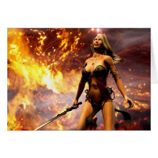la diosa del fuego tarjeta de felicitación