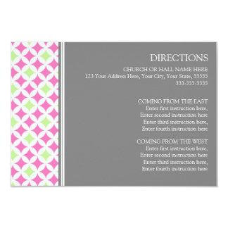 La dirección del boda carda gris rosado de la cal invitación 8,9 x 12,7 cm