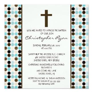 La diversión de moda PUNTEA el bautismo Inviation Invitación 13,3 Cm X 13,3cm