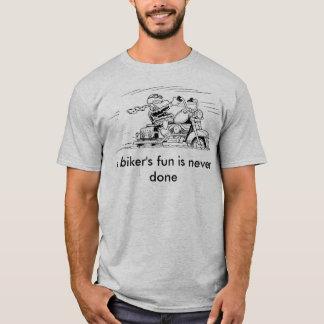 La diversión de un motorista nunca es camiseta