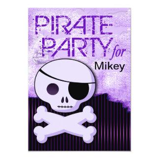 La diversión embroma al muchacho del pirata - invitación 12,7 x 17,8 cm