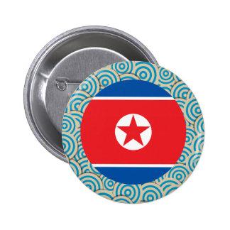 La diversión llenó, bandera redonda de Corea del Chapa Redonda 5 Cm