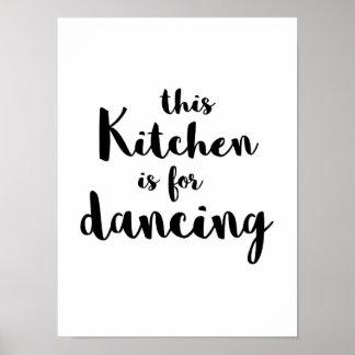 La diversión peculiar esta cocina está para la póster