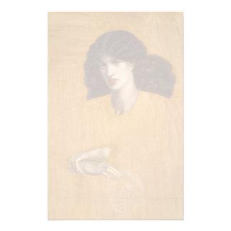 La Donna Della Finestra de Dante Gabriel Rossetti Papelería Personalizada