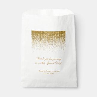 La ducha el | del boda del confeti de la textura bolsa de papel
