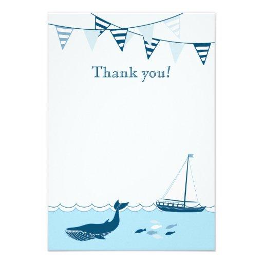 La ducha náutica azul del bebé del velero le agrad anuncios personalizados