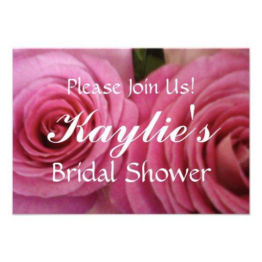 La ducha nupcial color de rosa de RSVP invita Invitación Personalizada