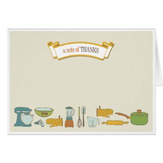 La ducha nupcial de la cocina le agradece cardar tarjeta pequeña