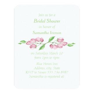 La ducha nupcial de la flor de cerezo floral invitación 10,8 x 13,9 cm