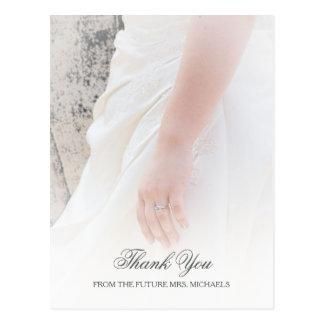 La ducha nupcial de las novias de la foto etérea postal