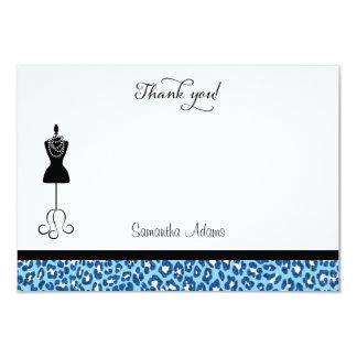 La ducha nupcial del estampado de animales azul le invitación 8,9 x 12,7 cm