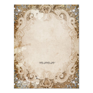 La ducha nupcial del guión adornado del cuento de invitación 10,8 x 13,9 cm