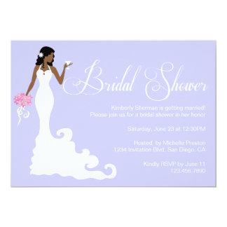 La ducha nupcial elegante de la novia moderna invitación 12,7 x 17,8 cm