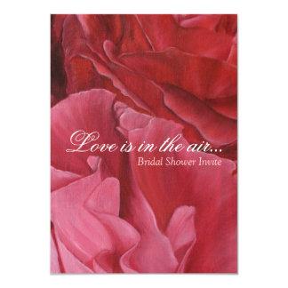 La ducha nupcial elegante elegante de los rosas invitación 11,4 x 15,8 cm