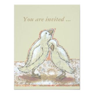 La ducha nupcial invita a arte perfecto del pájaro invitación 10,8 x 13,9 cm