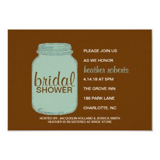 La ducha nupcial invita - tarro de albañil - a invitación 8,9 x 12,7 cm