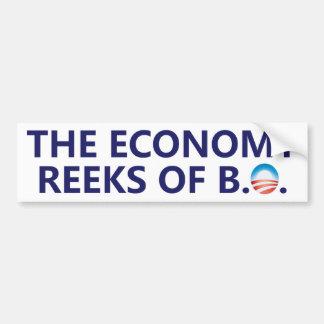 La economía apesta a la pegatina para el parachoqu pegatina para coche