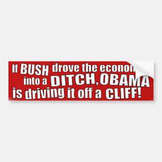 La economía de Obama Pegatina Para Coche