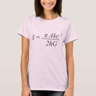 La ecuación de la paradoja camiseta