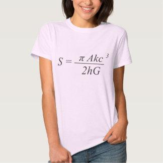 La ecuación de la paradoja camisetas