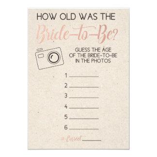 La edad de la ducha del juego de la novia nupcial invitación 12,7 x 17,8 cm