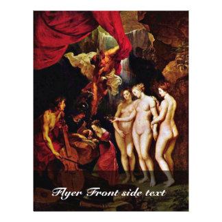 La educación de Maria de Rubens Peter Paul Folleto 21,6 X 28 Cm