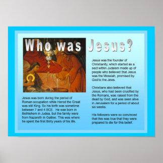 ¿La educación, religión, cristiano, quién era Jesú Póster