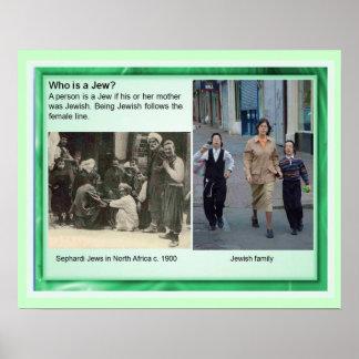 ¿La educación, religión, judaísmo, quién es un jud Posters