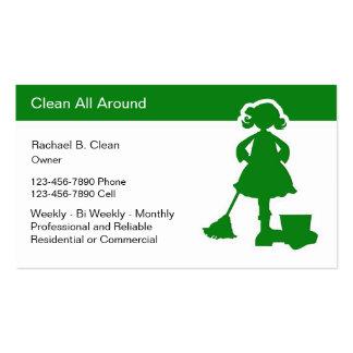 La empresa de servicios de la limpieza carda moder tarjetas de visita