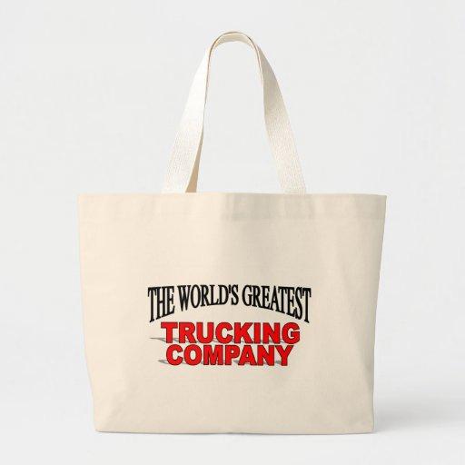 La empresa de transportes más grande del mundo bolsa tela grande