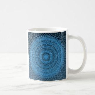 La energía azul estalló blanco taza de la obra