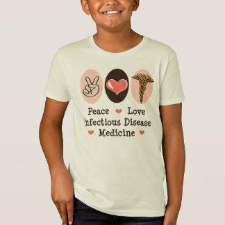 La enfermedad infecciosa del amor de la paz camisetas