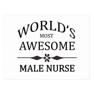 La enfermera de sexo masculino más impresionante postal