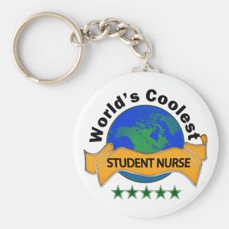 La enfermera del estudiante más fresca del mundo llavero redondo tipo chapa