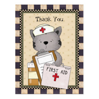 La enfermera del gato le agradece postal