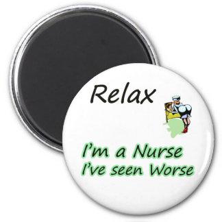 """La enfermera dice que """"relájese """" imán redondo 5 cm"""