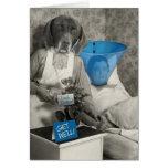 La enfermera divertida del perro del vintage consi felicitaciones