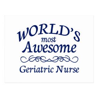 La enfermera geriátrica más impresionante del mund tarjeta postal
