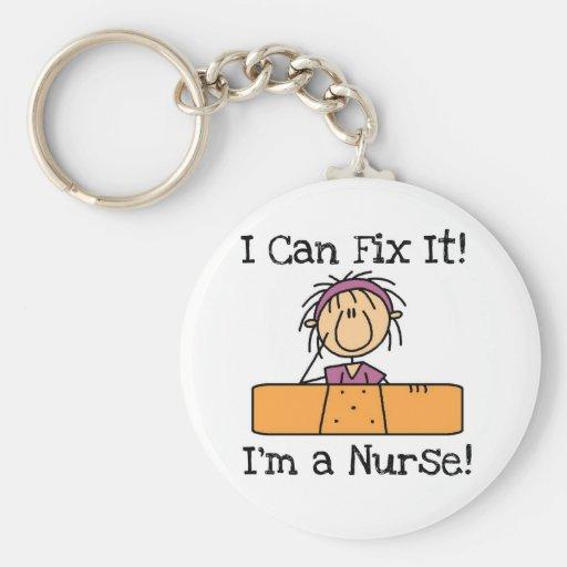La enfermera I puede fijarlo las camisetas y los r Llavero