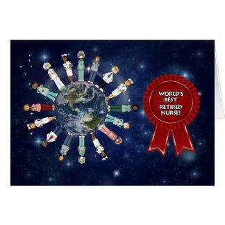 La enfermera jubilada mejor del mundo el día de tarjeta de felicitación