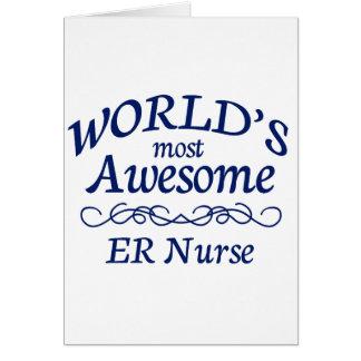 La enfermera más impresionante del ER del mundo Tarjeta De Felicitación
