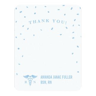 La enfermera personalizada azul le agradece las invitación 10,8 x 13,9 cm