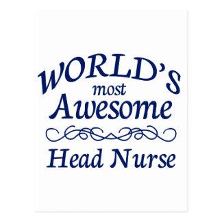 La enfermera principal más impresionante del mundo tarjeta postal
