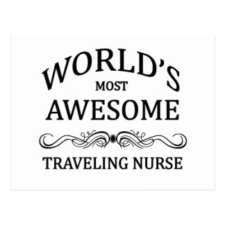 La enfermera que viaja más impresionante del mundo tarjetas postales