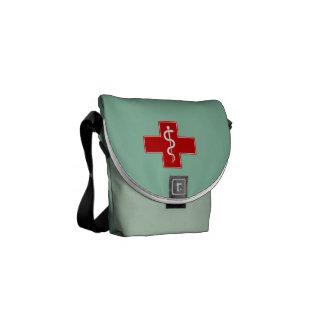 La enfermera Rod de Asclepius friega verde Bolsas Messenger