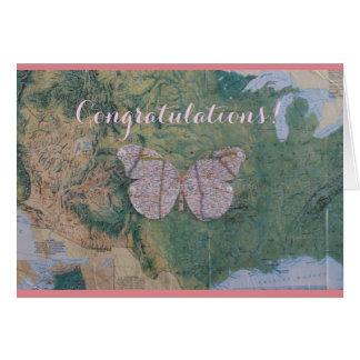La enhorabuena carda para ella tarjeta de felicitación