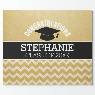 La enhorabuena gradúa - la graduación papel de regalo