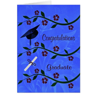 La enhorabuena gradúa la tarjeta de felicitación