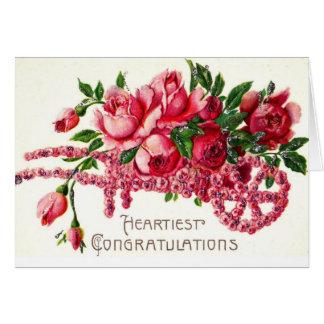 La enhorabuena más calurosa tarjeta de felicitación