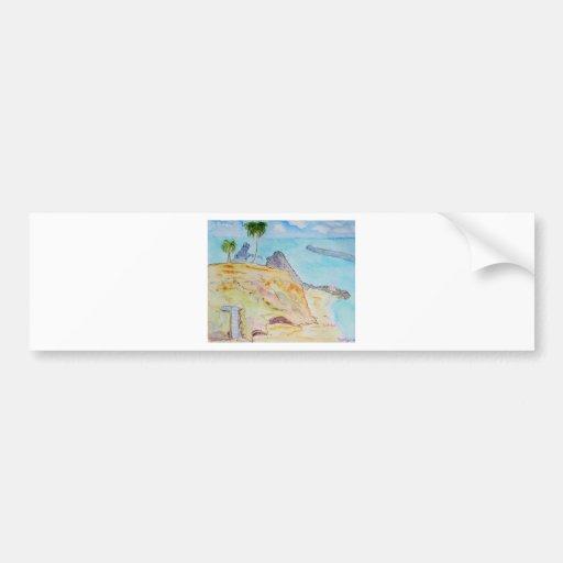 La Ensenada-Corona Del Mar, CA del pirata Etiqueta De Parachoque